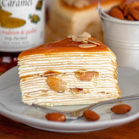 Salted Caramel Mille Crepe Cake