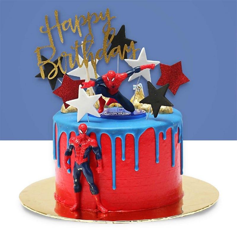 Spiderman Design Cake Junandus