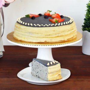 Black Sesame Crepe Cake